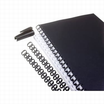 GBC Zipcomb Bindrug 8 mm zwart 50 stuks