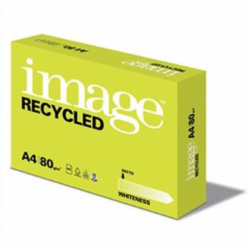 Image Recycled kopieerpapier A4 80 grams wit 500 vel