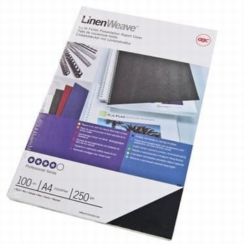 GBC Thermische omslag A4 Linenweave 4 mm  100 stuks