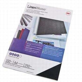 GBC Thermische omslag A4 Linenweave 6 mm  100 stuks