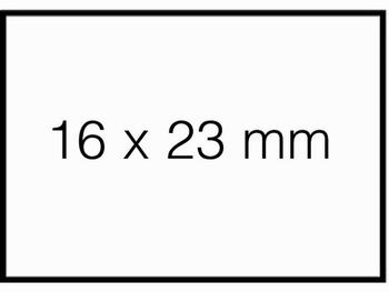 Etiket 16x23mm voor Prijstang Sato Duo 20 wit permanent