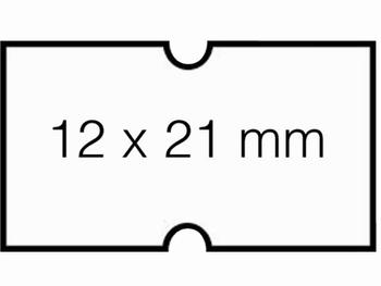 Etiket 12x21mm voor Prijstang Hallo 1Y wit afneembaar