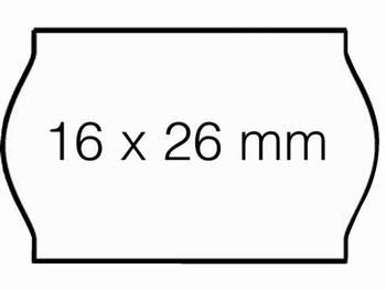 Etiket 26x16mm voor Prijstang Sato S14 wit permanent