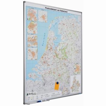 Wand- / Landkaart Softline profiel 8mm Nederland Postcode