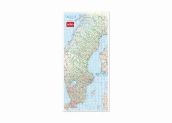 Nobo magnetische wandkaart Zweden
