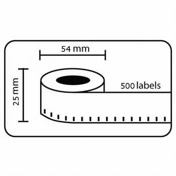 Dymo Labelwriter compatible etiketten 54x25mm wit 10 rollen