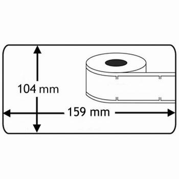 Dymo Labelwriter etiketten 104mmx159mm 220 stuks