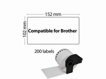 Etiket DK-11241 102x152mm Groot Logistiek Verzendlabel 200St