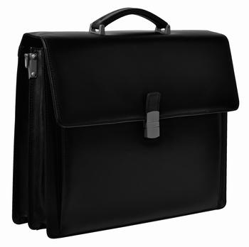DESQ Luxe Aktetas leer met notebook compartiment 15.6