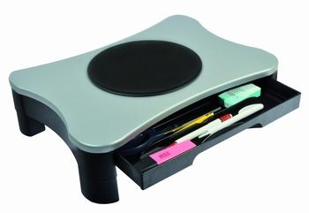 DESQ Monitorsteun met draaiplateau en lade