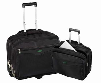 """Chicago Notebook trolley tas 17"""" nylon zwart"""
