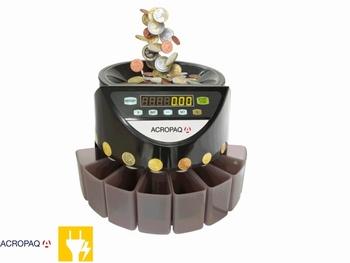 ACROPAQ geldtelmachine CC601 voor munten zwart
