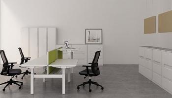 Metrix Dual Flexibele werkplek 140 x 80 cm