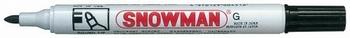 Snowman G-12 Permanent Marker 1-3 mm Zwart