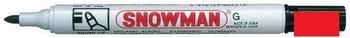 Snowman G-12 Permanent Marker 1-3 mm Rood