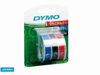 Lettertape Dymo rol 9mm x 3m assorti