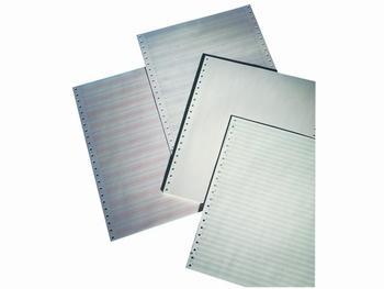"Computer / Pinfeedpapier 380x11"" blauw zebra 60gram 1000vel"