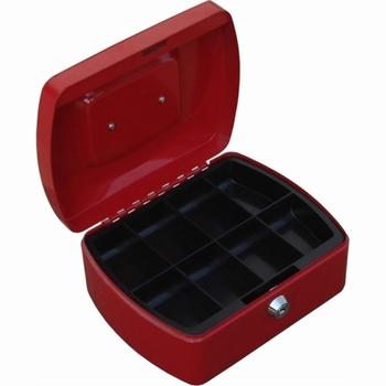 Geldkist TS0130 rood 205x160x90mm