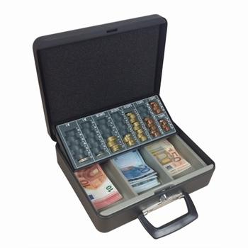 Geldkist met muntsorteerplaat 300x240x90mm grijs TS0016