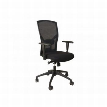 Bureaustoel Quantore Premium zwart HUISMERK