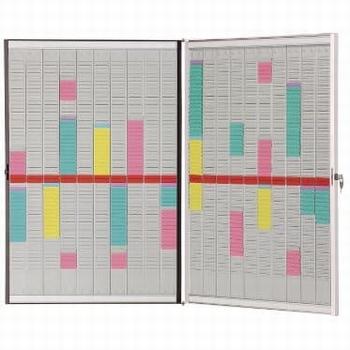 Nobo Planbord met T-kaarten Vouwbaar frame en Accessoires