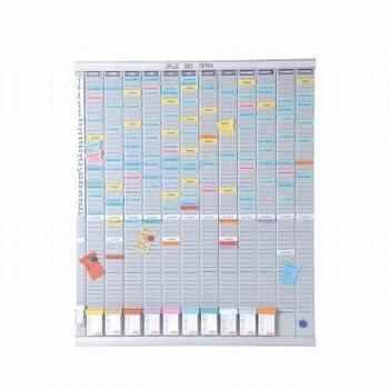 Nobo Planbord met T-kaarten Jaarplanner 13 kolom 54 sleuf