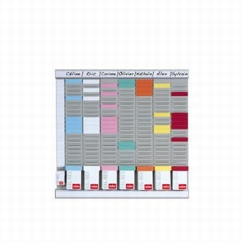 Nobo Planbord met T-kaarten Weekplanner 8 kolom 24 sleuf