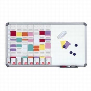 Nobo Planbord T-kaart + Whiteboard 8 kolom en 24 sleuven
