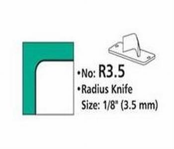 Rondhoekmes  R3.5 van 3.5 mm voor rondhoeker