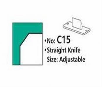 Rondhoekmes C15 recht mes voor rondhoeker