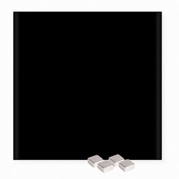 Glas / Magneetbord 450 x 450 mm Zwart