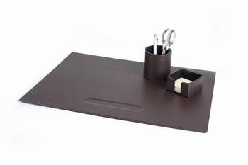 Complete bureauset leatherlook bruin 3 items