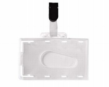 Badges met Clip-on hard PVC 54x86 mm  50 stuks
