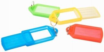 Sleutellabels schuifmodel Groot assorti kleuren 50 st.
