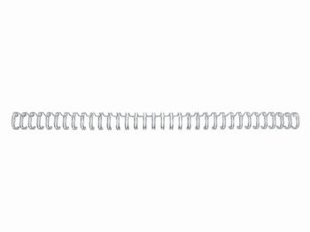 Draadkam metaal 6.4 mm - 1/4 (3:1) 34 rings wit 100 stuks