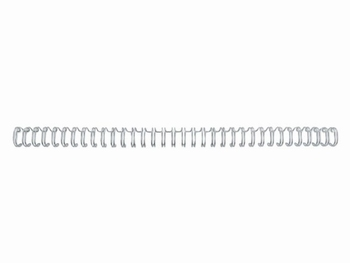 Draadkam metaal 12.7 mm - 1/2 (3:1) 34 rings wit 100 stuks