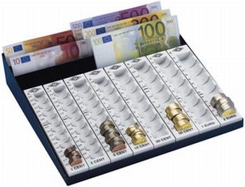 Wedo geldsorteer cassette voor biljetten en munten
