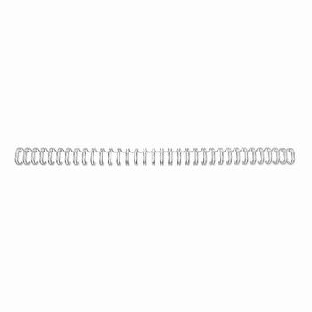 GBC Metalen Draadrug 3:1 24 lussen A5 8mm zilver