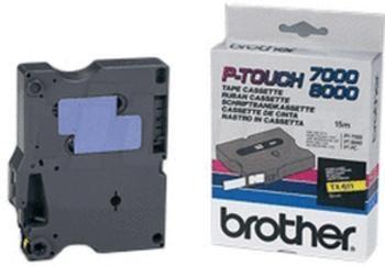 Brother Labeltape TX-611  6mm zwart op geel