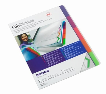 GBC Poly Tabblad Dividers A4 5-delig