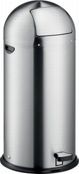 Luxe Helit Pedaalemmer metaal 52 liter Edelstaal