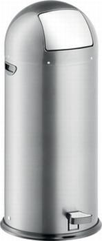 Luxe Helit Pedaalemmer metaal 52 liter Zilver