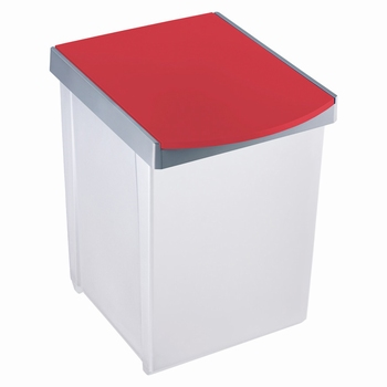 Inzamelbox Helit voor recyclebare stoffen 20L grijs - rood