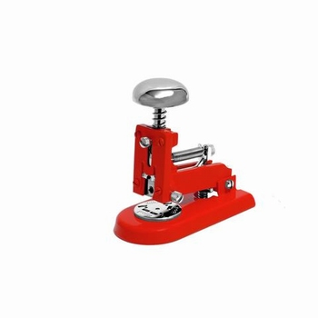 EL Casco M1 RO  luxe nietmachine klein Rood / Chroom