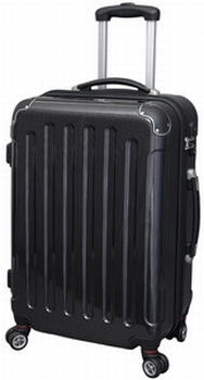 JSA Reistrolley Large ABS zwart Carbon-Look