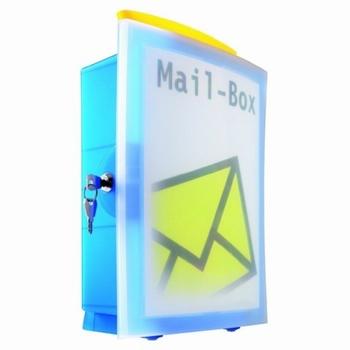 HAN Brievenbus - Mailbox IMAGE'IN Blauw / Transparant