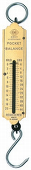 C.K. Veerweegschaal met ophanghaak van 0 tot 30.0 kg.