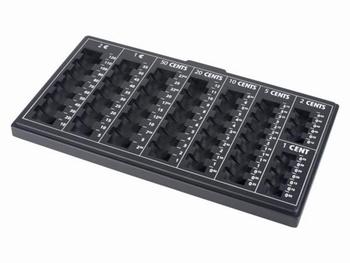 Muntensorteerbak 303x180x25mm Zwart