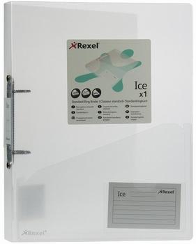 Rexel 2-ringsband Ice transparant met visitekaart insteekvak