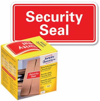 Avery 7311 verzegelingsetiket Security Seal 38 x 20 mm Rood